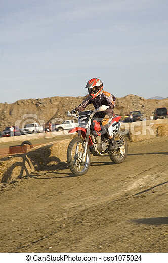Dirt bike racer - csp1075024