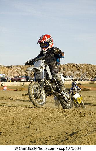 Dirt bike racer - csp1075064