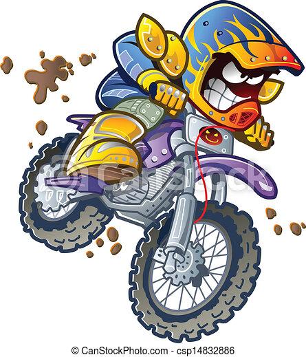 dirt bike rider dirt bike motorcycle rider making an vector rh canstockphoto com dirt bike clipart free dirt bike helmet clipart