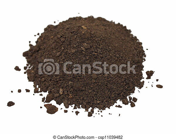 dirt isolated on white background - csp11039482