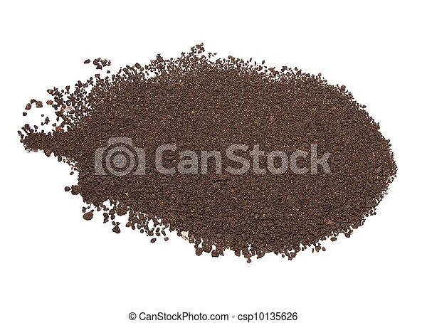 dirt isolated on white background - csp10135626