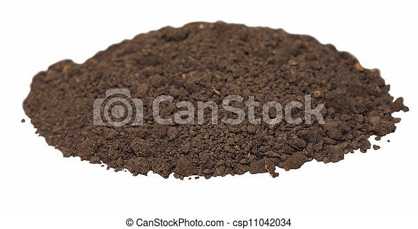 dirt isolated on white background - csp11042034