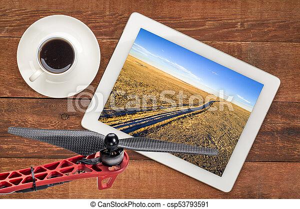 dirt ranch road in northern Colorado - csp53793591