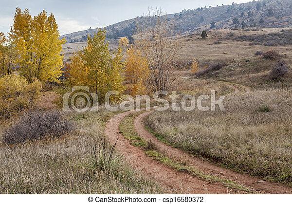 dirt road in Colorado foothills - csp16580372