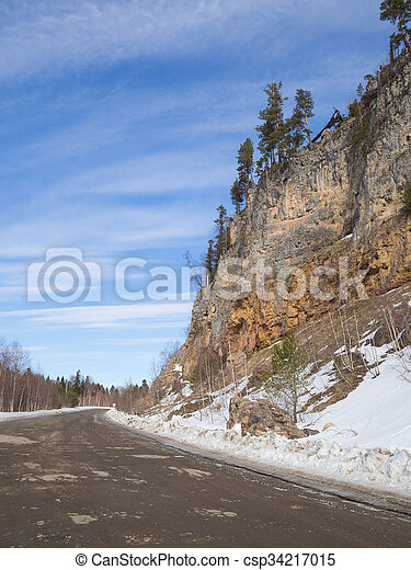 Dirt road in the mountains. - csp34217015