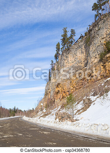 Dirt road in the mountains. - csp34368780