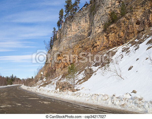 Dirt road in the mountains. - csp34217027