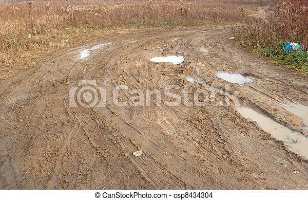 Dirt road - csp8434304