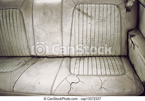 Dirty back seat - csp13372337