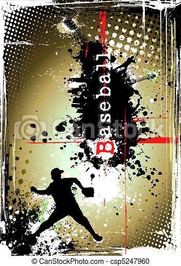 dirty baseball poster - csp5247960