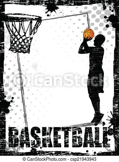 Dirty basketball poster - csp21943943