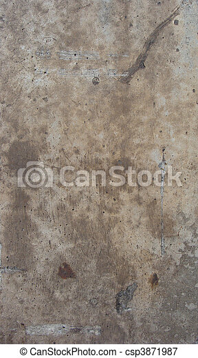dirty brown beige gray factory concrete wall - csp3871987