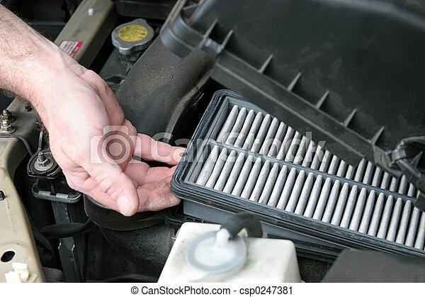 Dirty Car Air Filter - csp0247381