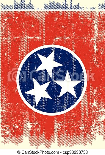 Dirty Flag of Tennesse  - csp33238753