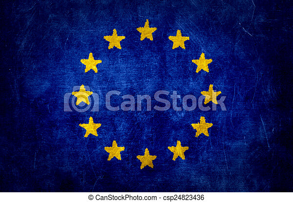 Dirty flag of the European Union - csp24823436