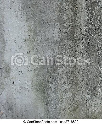 dirty gray green wall - csp3718809