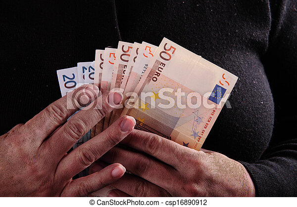 dirty hand and money - csp16890912