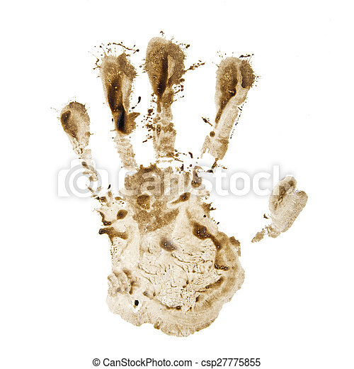 dirty hand print - csp27775855