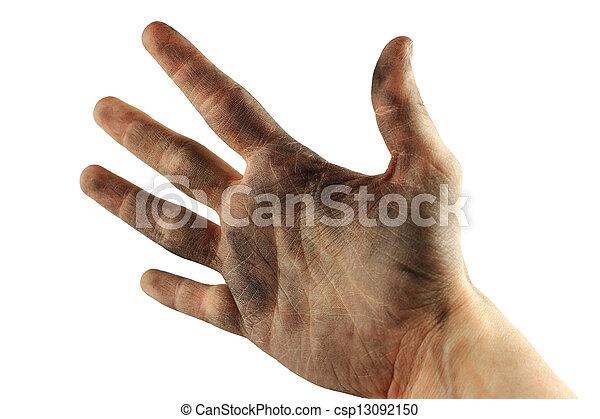 Dirty hand - csp13092150