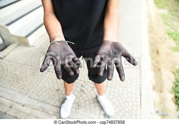 Dirty hand - csp74837658