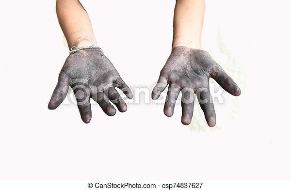 Dirty hand - csp74837627