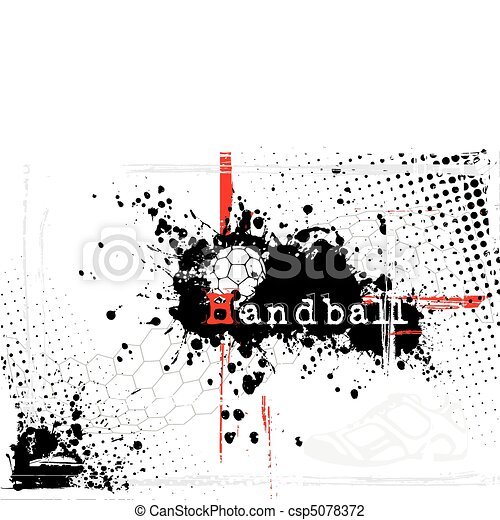 dirty handball background - csp5078372