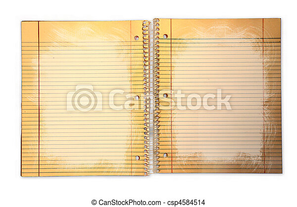Dirty Lined School Paper in a Binder - csp4584514