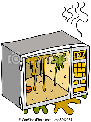 Dirty Microwave Oven - csp5242064