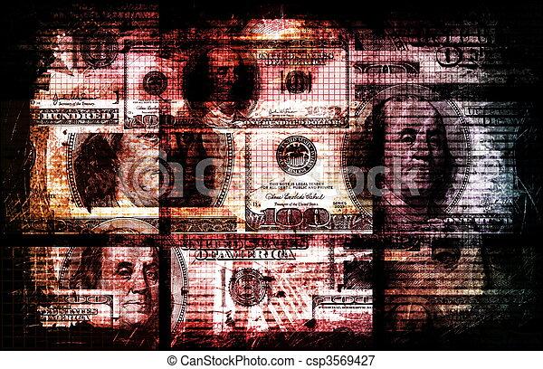 Dirty Money - csp3569427