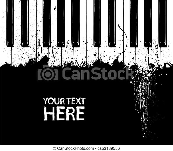 Dirty piano keys - csp3139556
