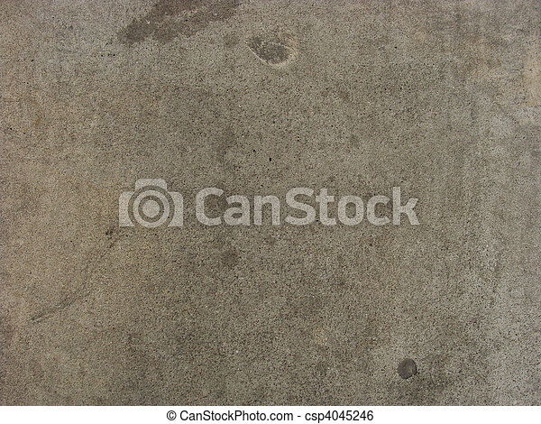 dirty worn gray beige concrete wall - csp4045246