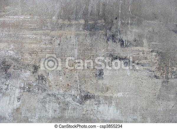 dirty worn gray wall - csp3855234