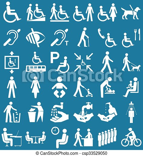 Disability and people Graphics - csp33529050