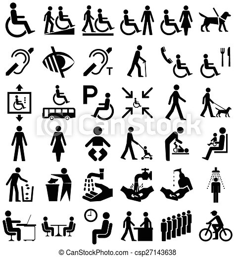 Disability And People Graphics Black And White Disability