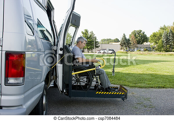 disability conversion van - csp7084484