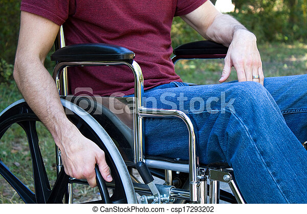 Disability Man Wheelchair - csp17293202