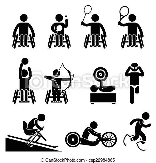 Disable Handicap Sport Paralympic - csp22984865