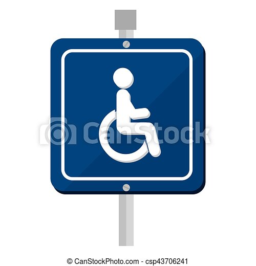 disable parking zone sign - csp43706241