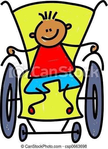 disabled boy - csp0663698