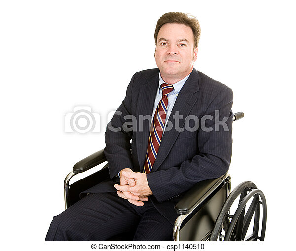 Disabled Businessman - Dignity - csp1140510