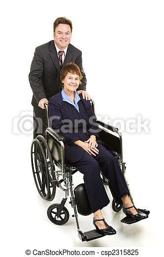 Disabled Businesswoman and Colleague - csp2315825