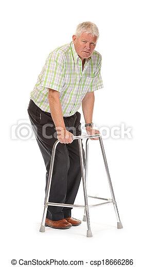 Disabled casual mature man - csp18666286