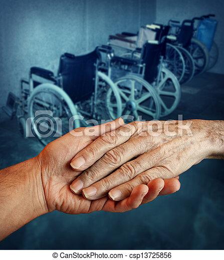 Disabled elderly - csp13725856
