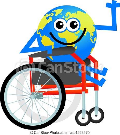 disabled globe - csp1225470