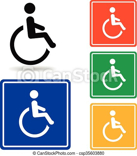 disabled icon vector handicap symbol disabled icon vector rh canstockphoto com handicap logo sticker handicap logo template