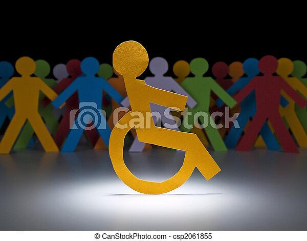 Disabled paper figure - csp2061855