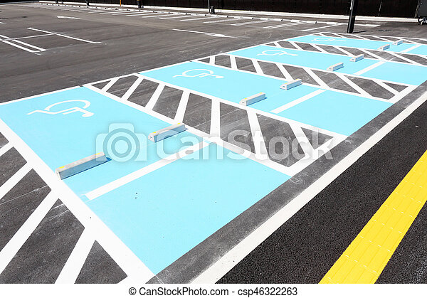 disabled parking sign - csp46322263
