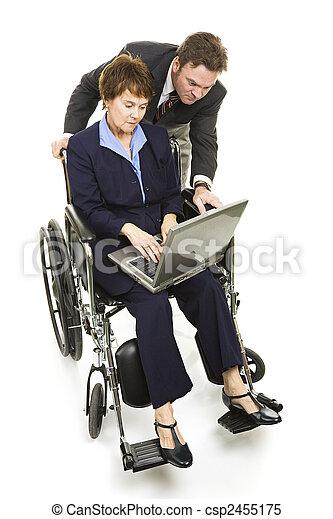 Disabled Professional - Teamwork - csp2455175