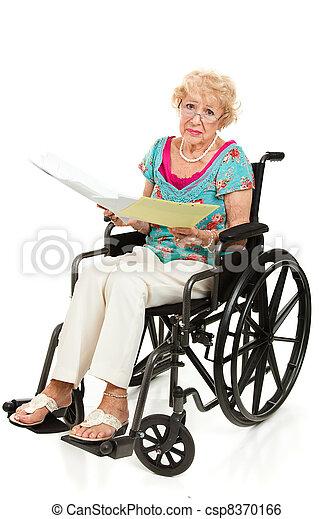Disabled Senior - Medical Bills - csp8370166