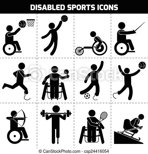 Disabled Sports Icons - csp24416054